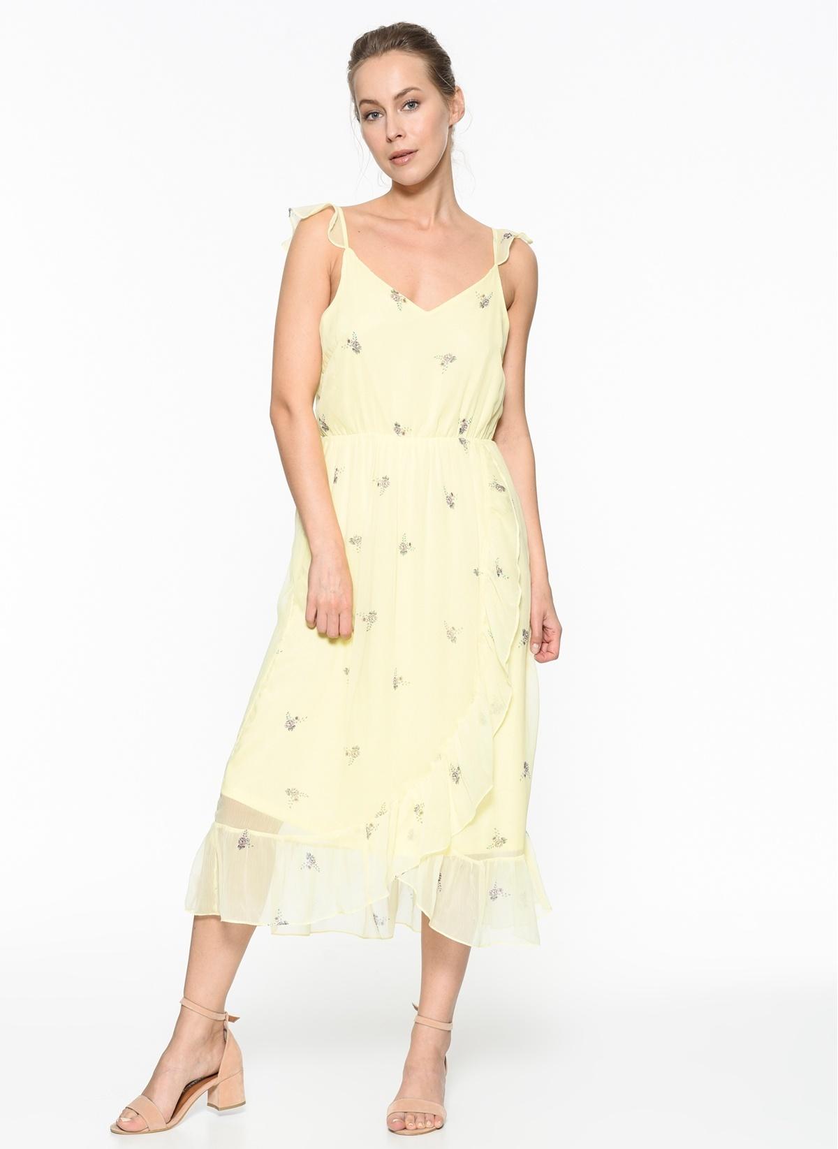 Vero Moda Askılı Midi Şifon Elbise 10198470 Vmdanni Singlet Calf Dre – 79.9 TL